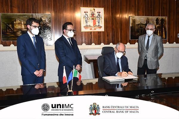 Accordo di cooperazione tra la Banca Centrale di Malta e l'Università di Macerata
