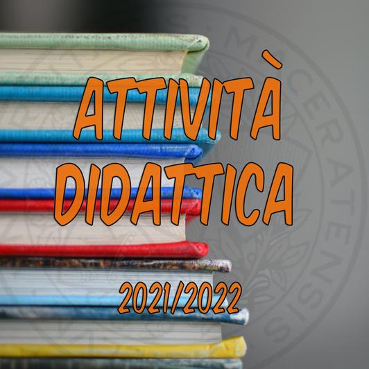 Attività didattica 2021/2022