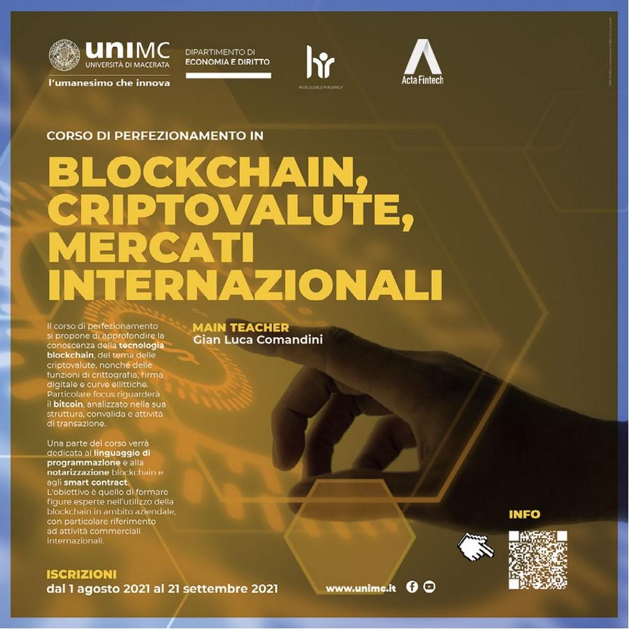 """""""Blockchain, criptovalute, mercati internazionali"""""""