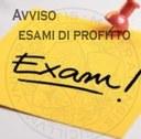Avviso   esami di profitto